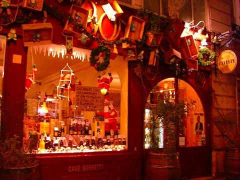 マレのワイン専門店のクリスマスデコレーション